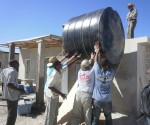 The water tank will supply water to the clinic and restrooms