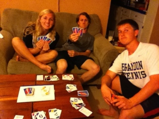 Playing Phase 10 with the kiddos. One of our favorite pastimes while in Haiti