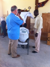 A young man prayed to receive Christ at church Sunday and Tony, Mickenson, and Makil prayed with him after church.