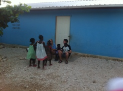 Jonathan & Katelyn playing with all the kids at the orphanage
