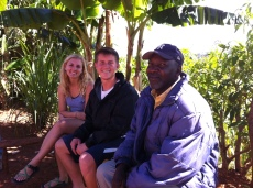 Katelyn & Jacob hanging out with Miguelson's father, Pastor Joel.