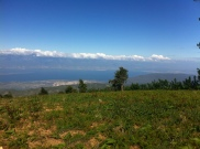 The view from the top portion of Miguelson's father's land. You can see all the way to the DR and you are even with the clouds. Amazing....