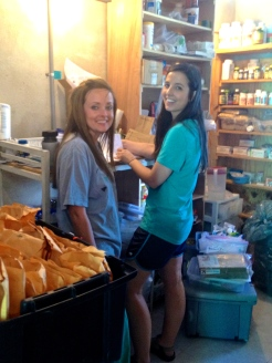 Jenny & Dru working pharmacy at Hope Center Clinic