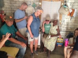 Everyone gets invited into Madame Marta's house when we go on the village tour!