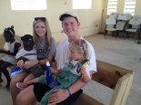 Jacob & Madison with baby Jacob and Ava during Bible school