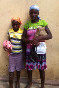 Marise and her sister when she first came to our mobile clinic in Thoman.
