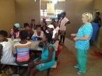 Motherhood seminar at Hope Center hosted by FBC Brandon for women in our village who are expecting babies