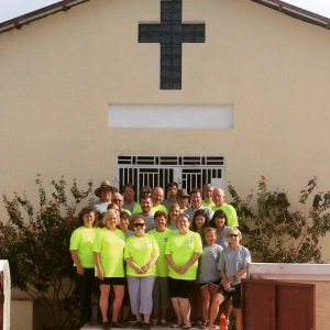 FBC Brandon group in front of the church