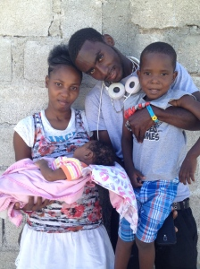 Graycey and her family before going to see the cardiologist for a workup and referral to Haiti Cardiac Alliance