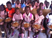 Children eating at MEBEA!