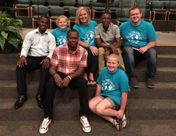 Brenna and Kevin Anthony & their girls with Bicly, Johnny, and Vladimir at FBC Brandon