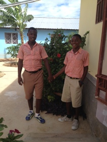 Bicly & Johnny in their new uniforms