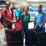 Vladimir, Bicly, & Johnny at the Port au Prince Airport headed to the US