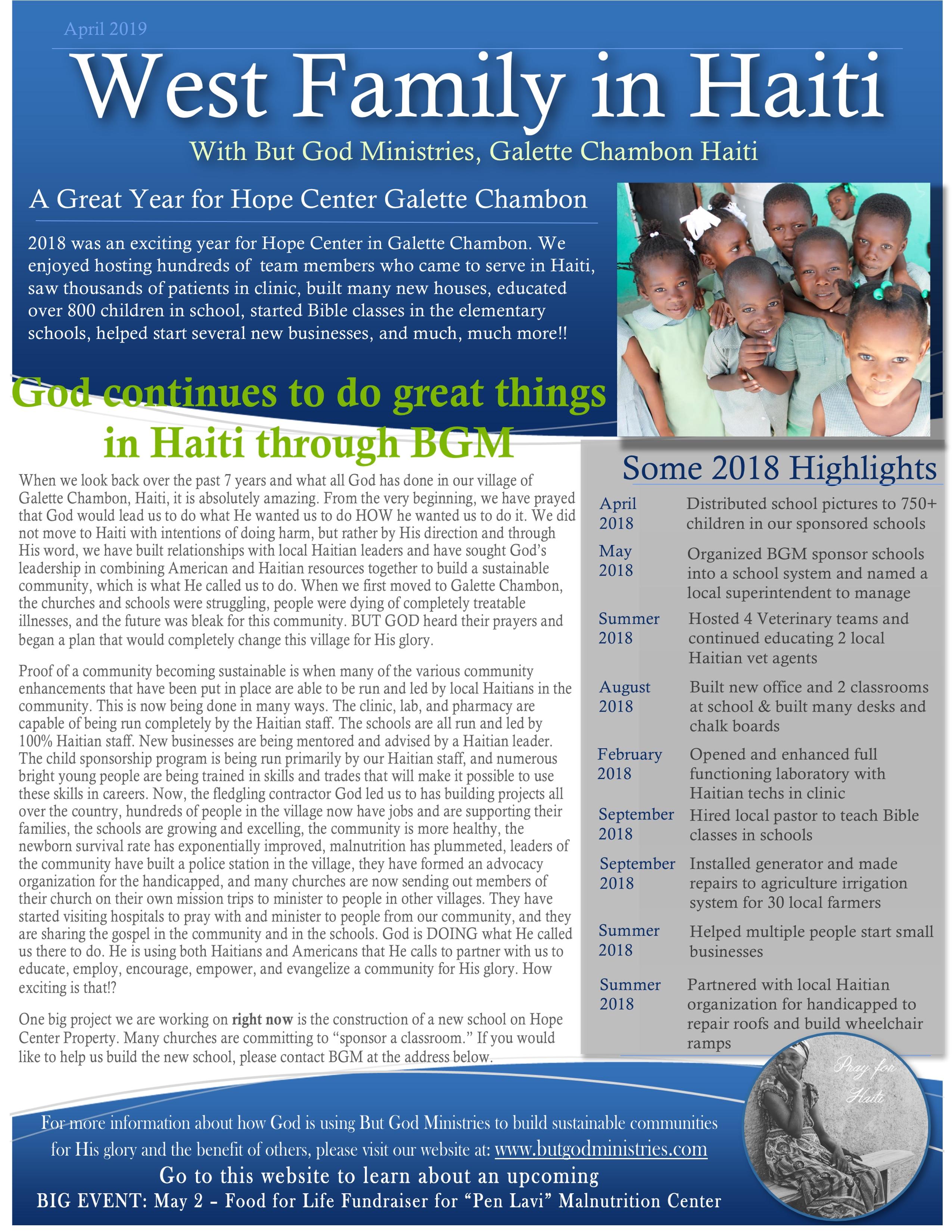 Newsletter April 2019