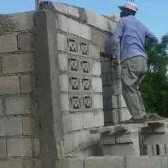 Mr. Joseph's house under construction